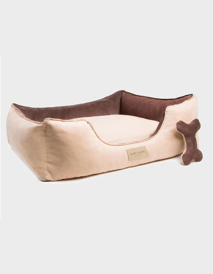 HUNDEBETT CLASSIC BRAUN VON BOWL AND BONE REPUBLIC