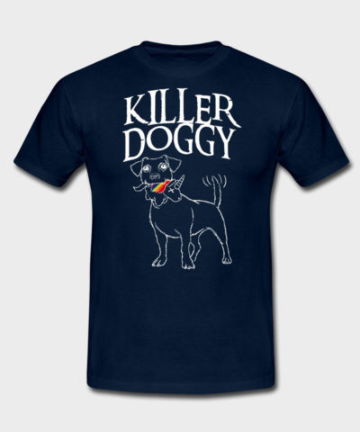 Killer Doggy mit Unicorn | Männer T-Shirt