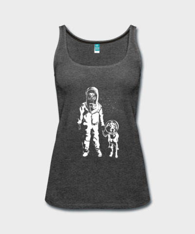 Spacewomen mit Hund | Frauen Premium Tank Top