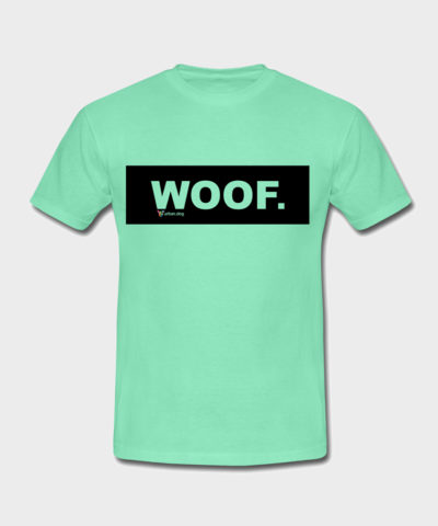 WOOF Black Edition | Männer T-Shirt Dunkle Minze