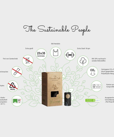 Bio Hundekotbeutel mit Henkel | The Sustainable People