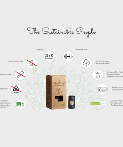 Bio Hundekotbeutel ohne Henkel | The Sustainable People